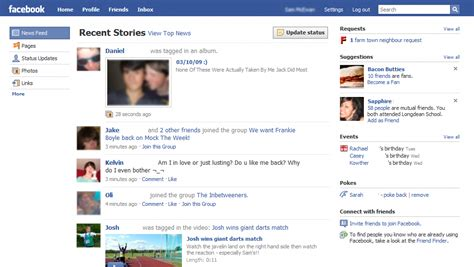 fb home facebook testing yet another homepage redesign