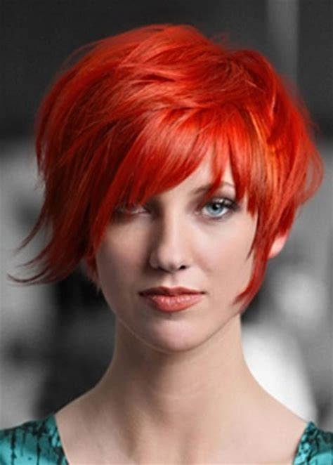 short haircuts and color ideas short red hair color orange rachael edwards