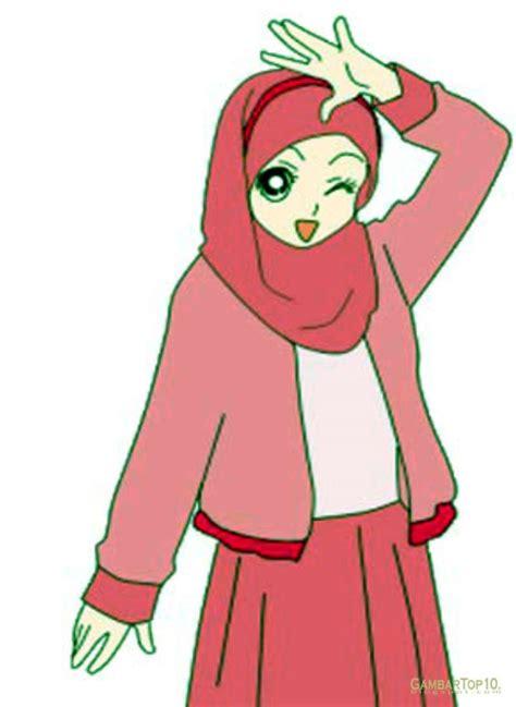 populer gambar kartun muslimah memanah cartonmuslim