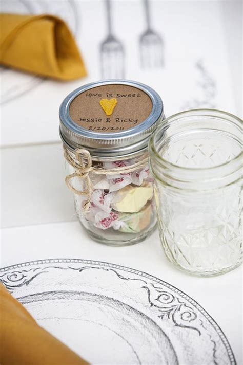 Mason Jar Wedding Giveaways - wedding favors mason jar ideas