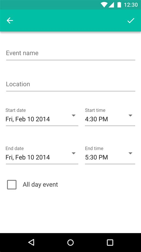 material design header html text fields components material design