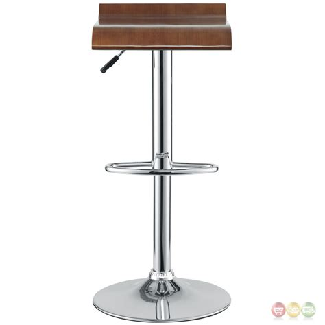 wood and chrome bar stools bentwood modern wooden seat bar stool w chrome base foot
