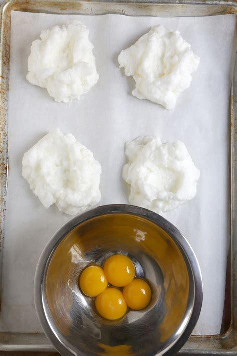 egg clouds easy baked egg recipe popsugar food