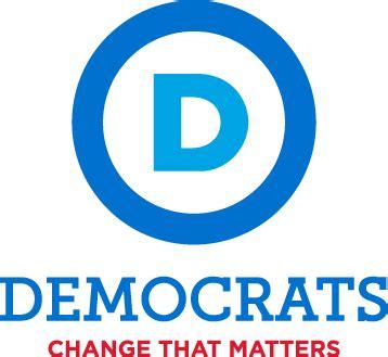democrat color 12972 democratic logo with slogan color sticker