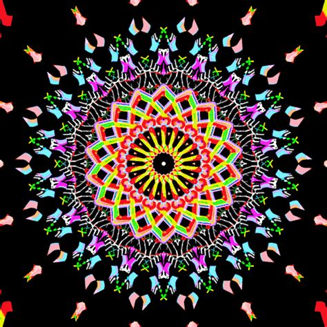 Pattern Illusion World My Own World 4 Series Khalezza Tria N psychedelic dazzle psychedelic mandala and gifs