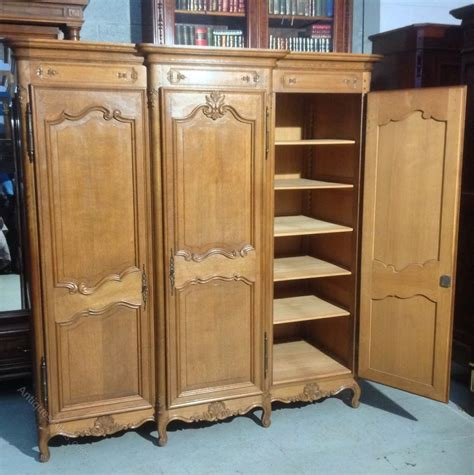 triple armoire french oak triple armoire antiques atlas