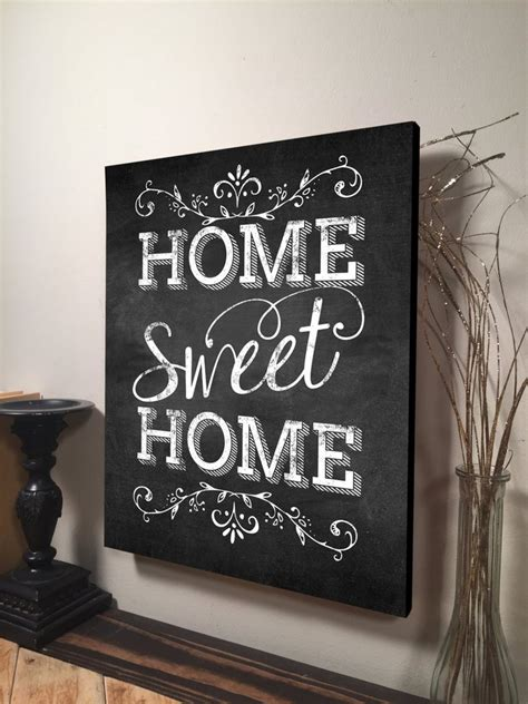 home sweet home sign inspirational quote family quote