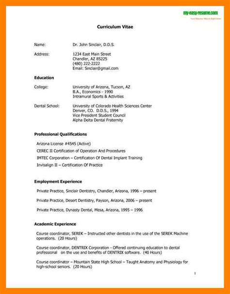 how to right a cv 6 how to write cv sle emt resume