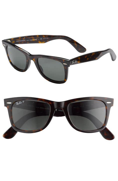 ban classic polarized wayfarer sunglasses in brown for
