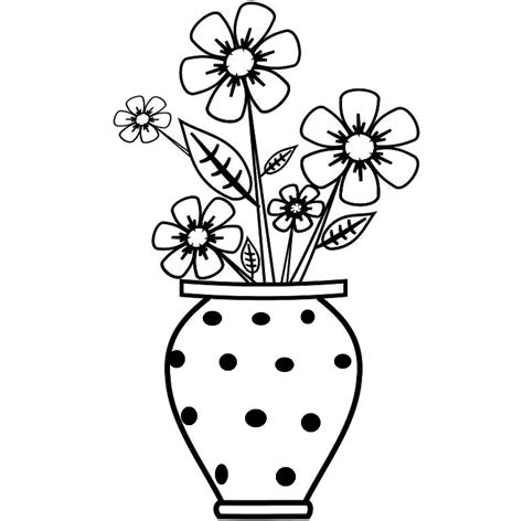 Drawing Flowers In A Vase by Drawing Of Flower Vase With Flowers Drawing Of Sketch