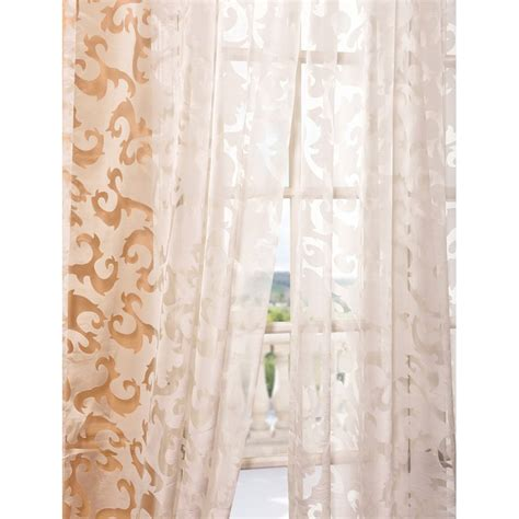 patterned sheer curtain panels exclusive fabrics furnishing shch lh96 alesandra