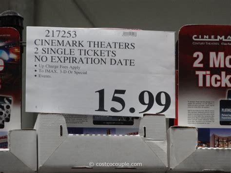 Costco Movie Gift Cards - cinemark theaters discount movie tickets