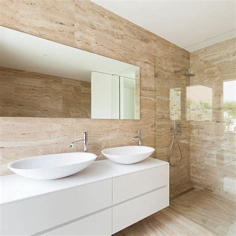 cut price bathrooms ivory vein cut honed filled travertine tiles 12x24
