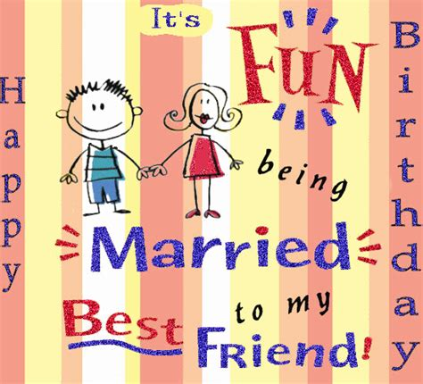 123 Greetings Birthday Card For Husband Married To My Best Friend Free For Husband Wife Ecards