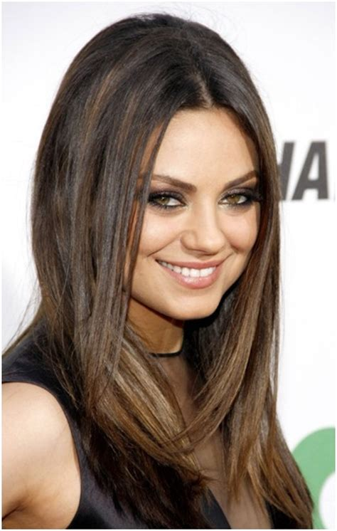 medium straight hairstyles trends mila kunis hair