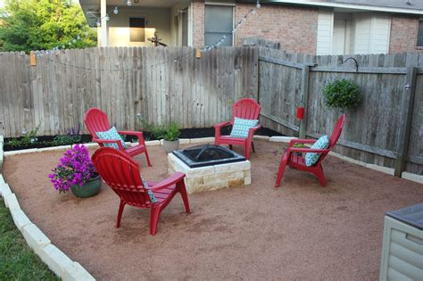 decomposed granite patio with built in firepit ideas for