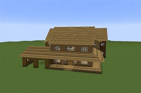 Colonial Farmhouses Large American Farmhouse Minecraft Project