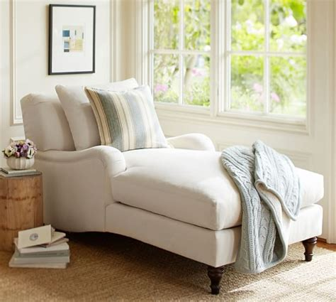 pottery barn chaise lounge carlisle upholstered chaise pottery barn