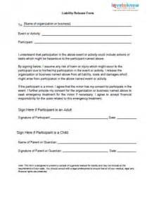disclaimer template for sport free liability release forms