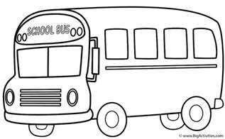 color of school buses school coloring page transportation