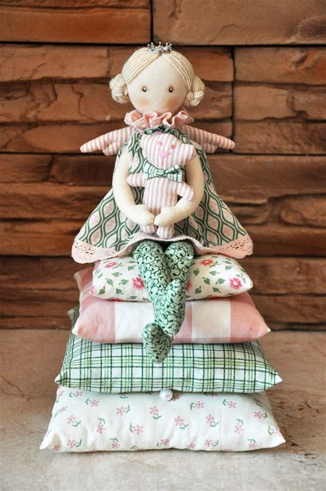 Handmade Fabric Dolls - princess on the pea cloth doll handmade doll by neonila1