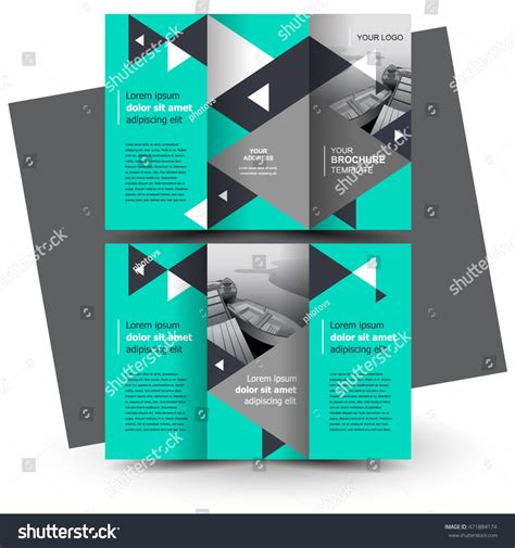 business brochure design template creative trifold stock