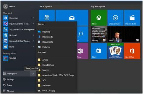 Windows 10 Recent Documents