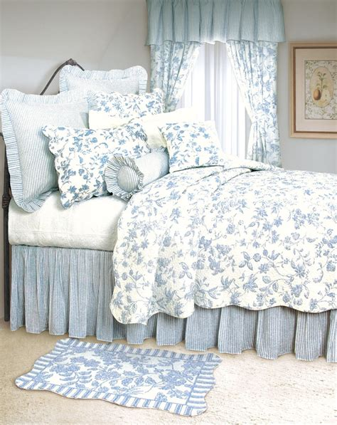 toile coverlet brighton blue toile bedding by c and f aj moss