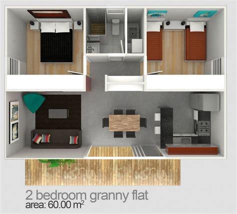 granny flat plans granny flat seaforth 60sqm 2bed 1bath flat pinterest