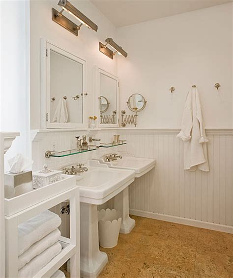 cork floor in bathroom cork floor cottage bathroom the brooklyn home company