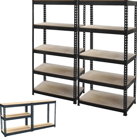 metal garage shelving 2 x 5 tier metal shelving shelf storage unit garage boltless shelves industrial