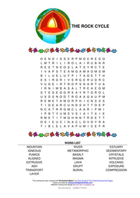 printable word search on rocks rock cycle wordsearch by raj nandhra teaching resources