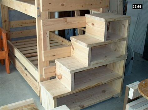bunk bed steps shelves great idea for younger who