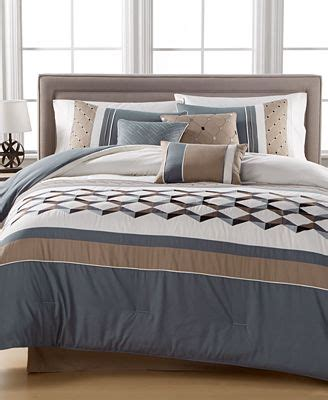 macy comforter sets clearance closeout beckett embroidered 7 pc comforter set created