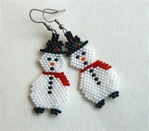 Beaded christmas tree pendant earrings or ornament pattern and 2015