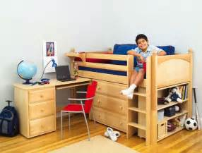 Bunk Bed And Desk Loft Beds With Desk Wooden Global