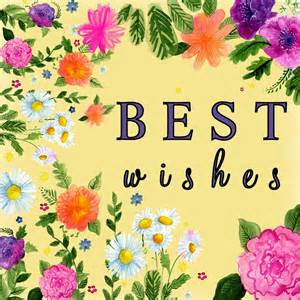 free illustration best wishes yellow flower free