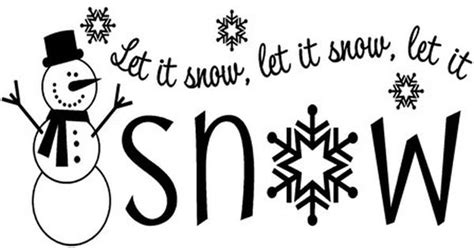 let is snow testo let it snow snowman sayings wall sticker