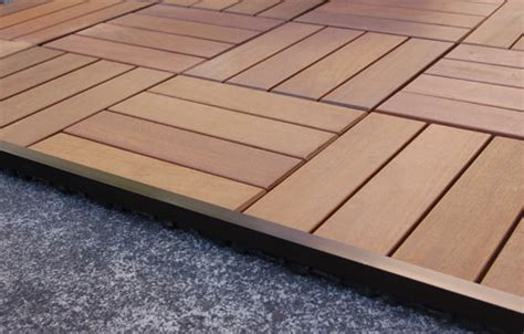 Patio Pavers Wood Resideck Composite Wood Patio Pavers