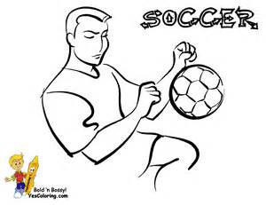 soccer players colouring pages