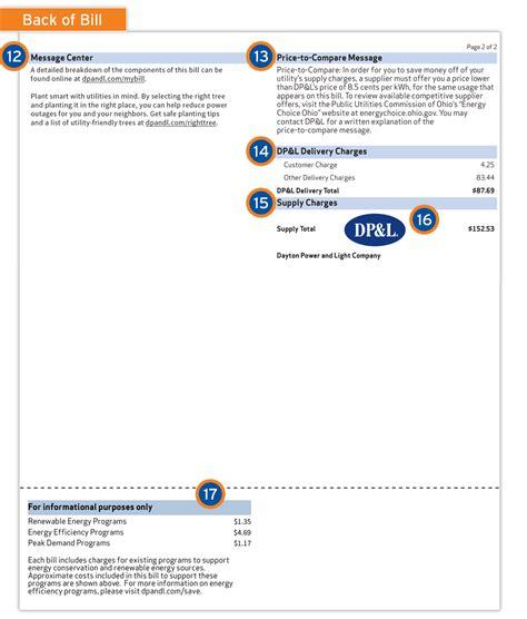 dayton power and light payment understanding your dayton power and light bill