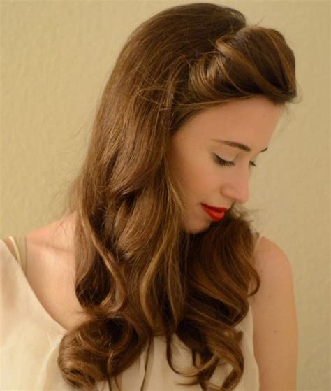vintage hairstyles images vintage half up half down hair you must try pretty designs