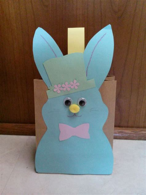 Paper Bag Bunny Craft - easter bunny paper bag craft for children rabbit
