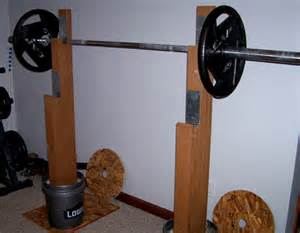 Weight Of The Bench Press Bar Homemade Strength More Than Just Squat Stands