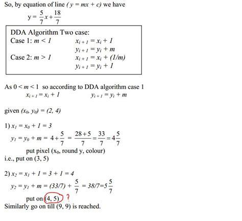 dda algorithm confusion stack overflow