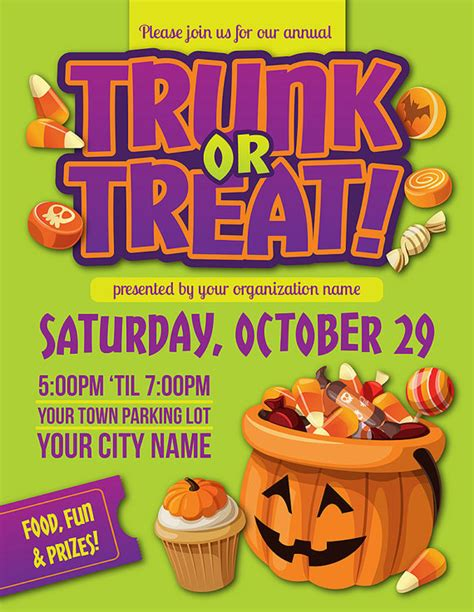 trunk or treat flyer template personalized trunk or treat flyer by bowwowcreative my and vintage poster