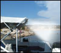 boat bimini top misting system boat misters misting systems for your boat