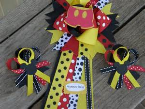 mickey mouse baby shower corsage set of 2 by bonbow on