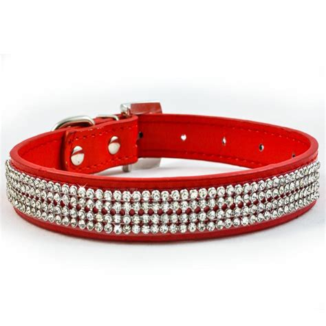 bling collars new diamante collar rhinestone leather bling ebay