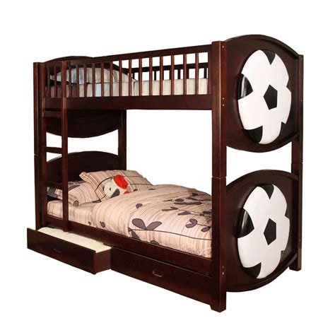 soccer beds venetian worldwide olympic soccer ball twin over twin bunk